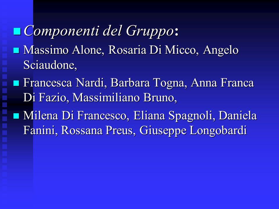 Componenti del Gruppo:
