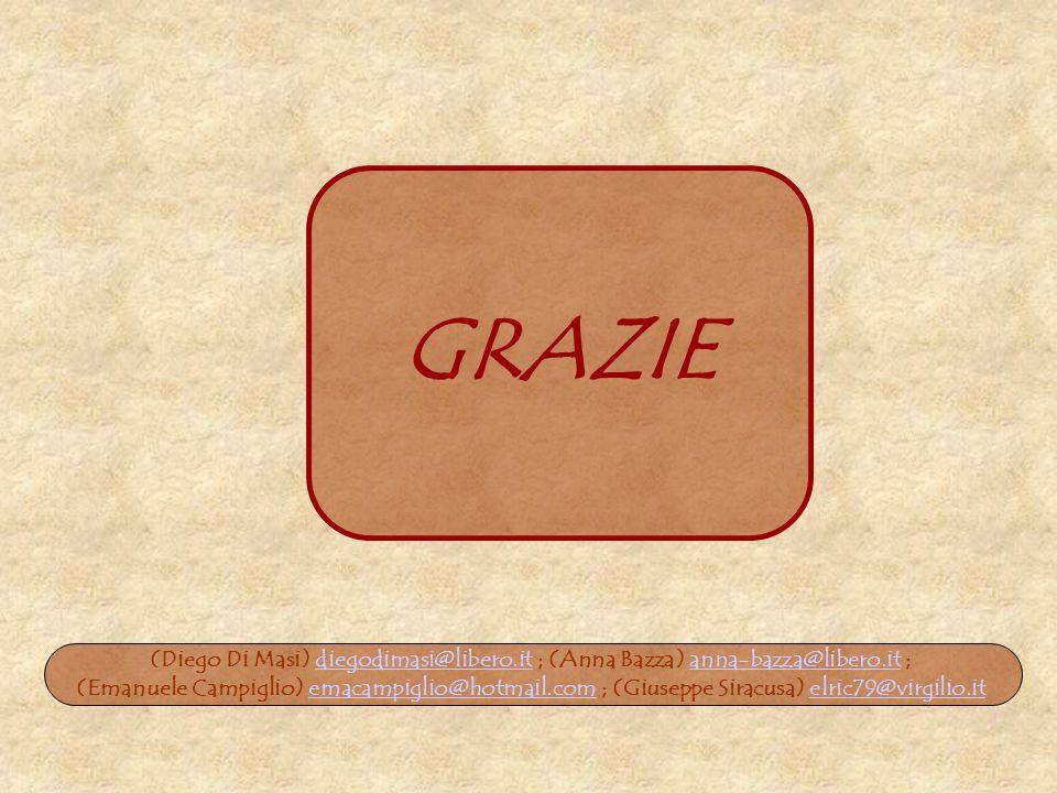 GRAZIE (Diego Di Masi) diegodimasi@libero.it ; (Anna Bazza) anna-bazza@libero.it ;