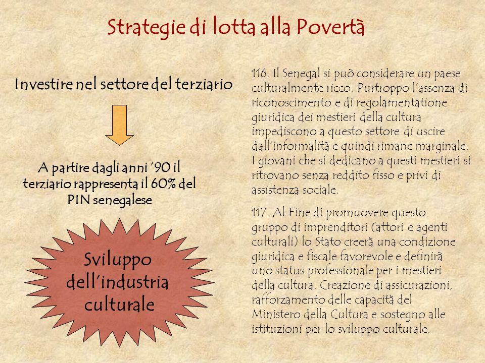 Strategie di lotta alla Povertà Investire nel settore del terziario