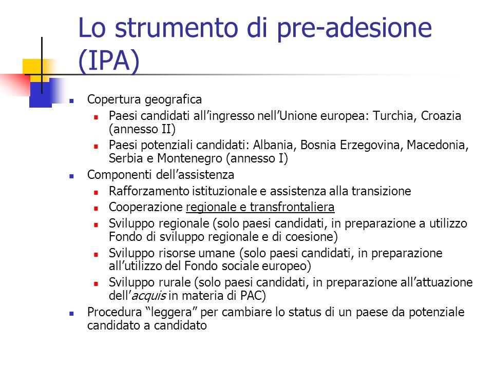Lo strumento di pre-adesione (IPA)