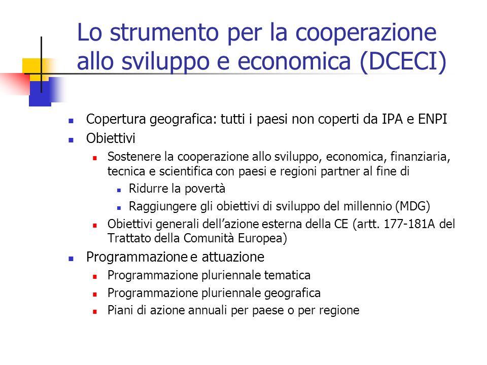 Lo strumento per la cooperazione allo sviluppo e economica (DCECI)