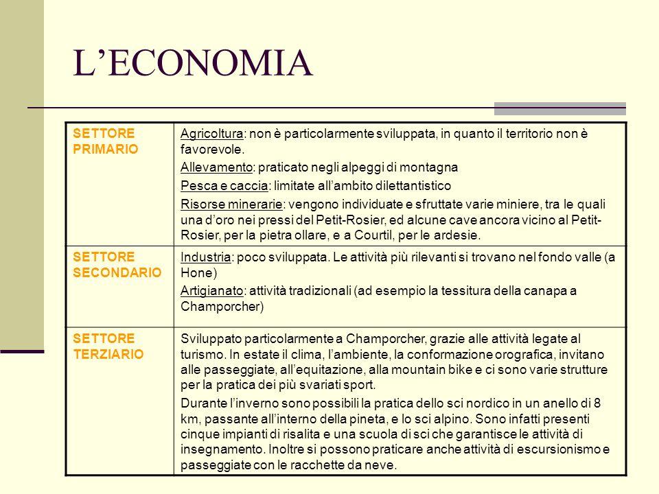 L'ECONOMIA SETTORE PRIMARIO