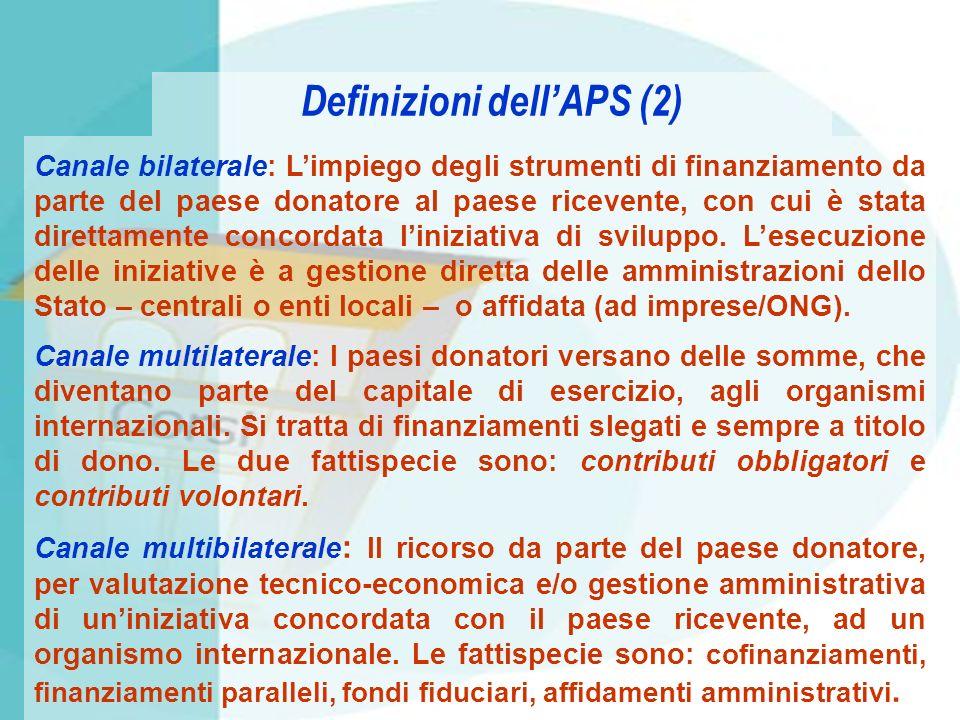 Definizioni dell'APS (2)