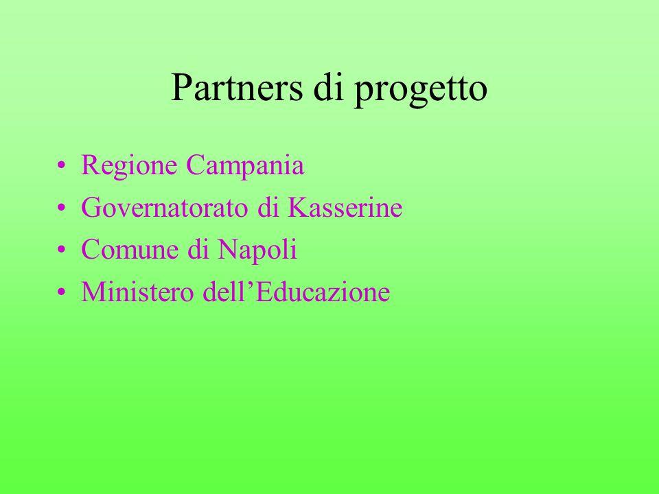 Partners di progetto Regione Campania Governatorato di Kasserine