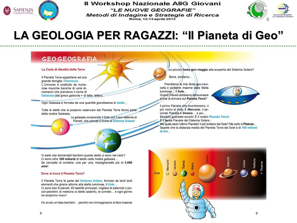 LA GEOLOGIA PER RAGAZZI: Il Pianeta di Geo