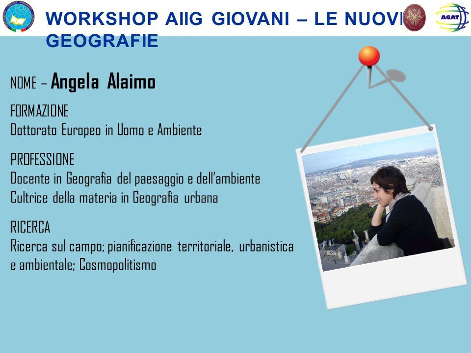 Workshop aiig giovani – le nuove geografie
