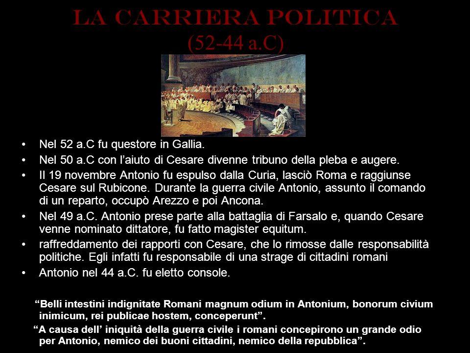 LA CARRIERA POLITICA (52-44 a.C)