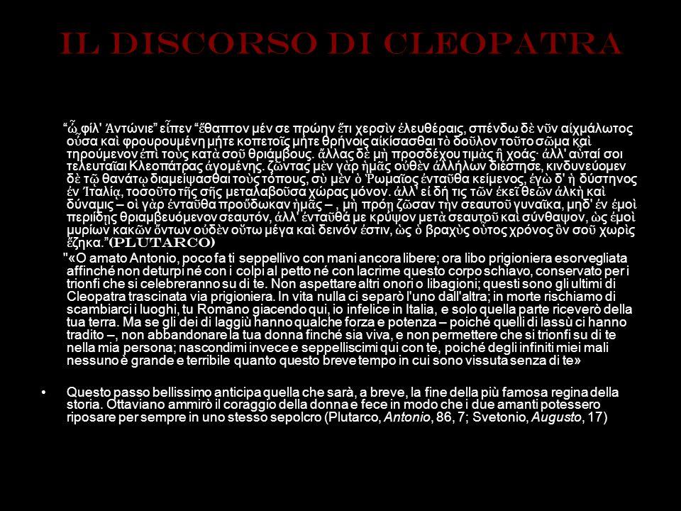IL discorso di cleopatra