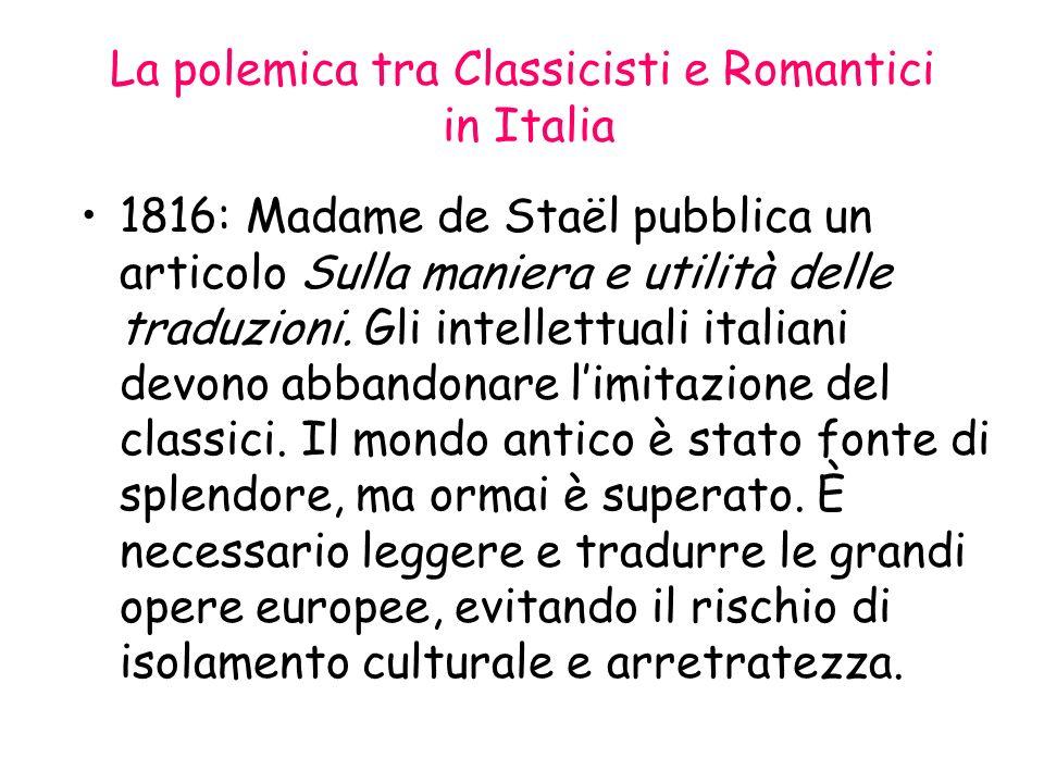 La polemica tra Classicisti e Romantici in Italia