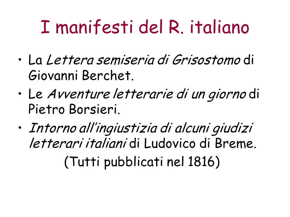 I manifesti del R. italiano