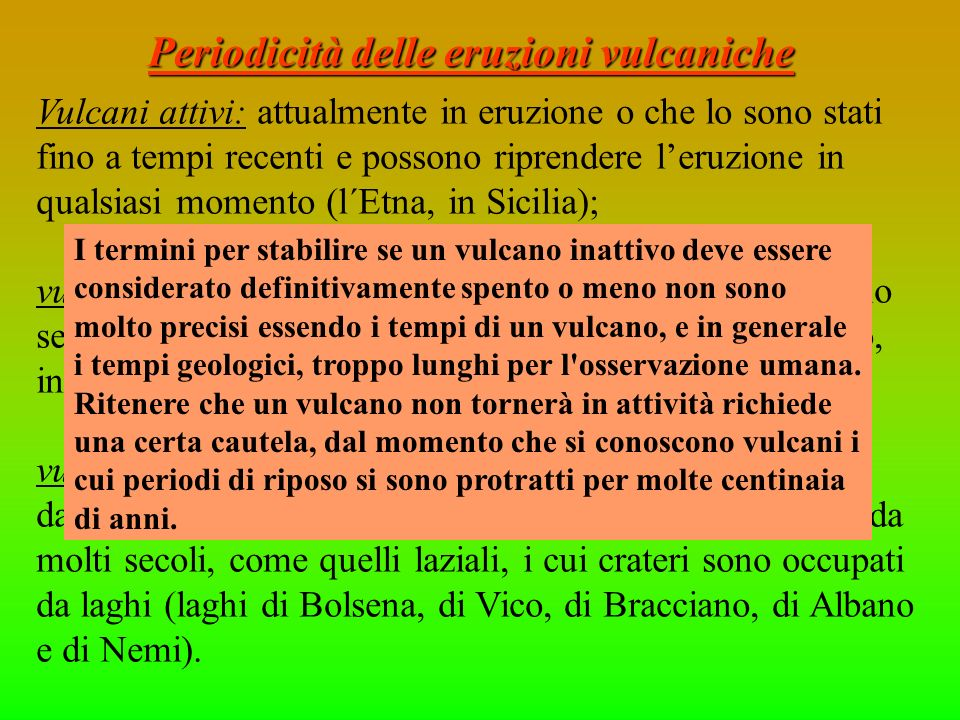 Periodicità delle eruzioni vulcaniche