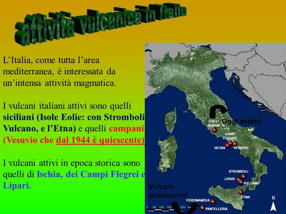 attività vulcanica in Italia