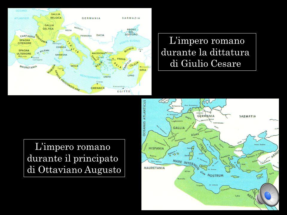 L'impero romano durante la dittatura. di Giulio Cesare.
