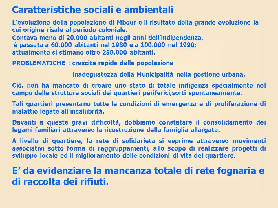 Caratteristiche sociali e ambientali