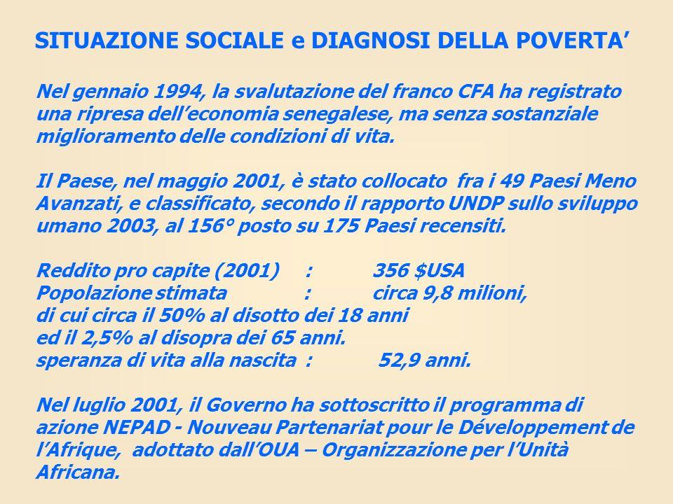 SITUAZIONE SOCIALE e DIAGNOSI DELLA POVERTA'