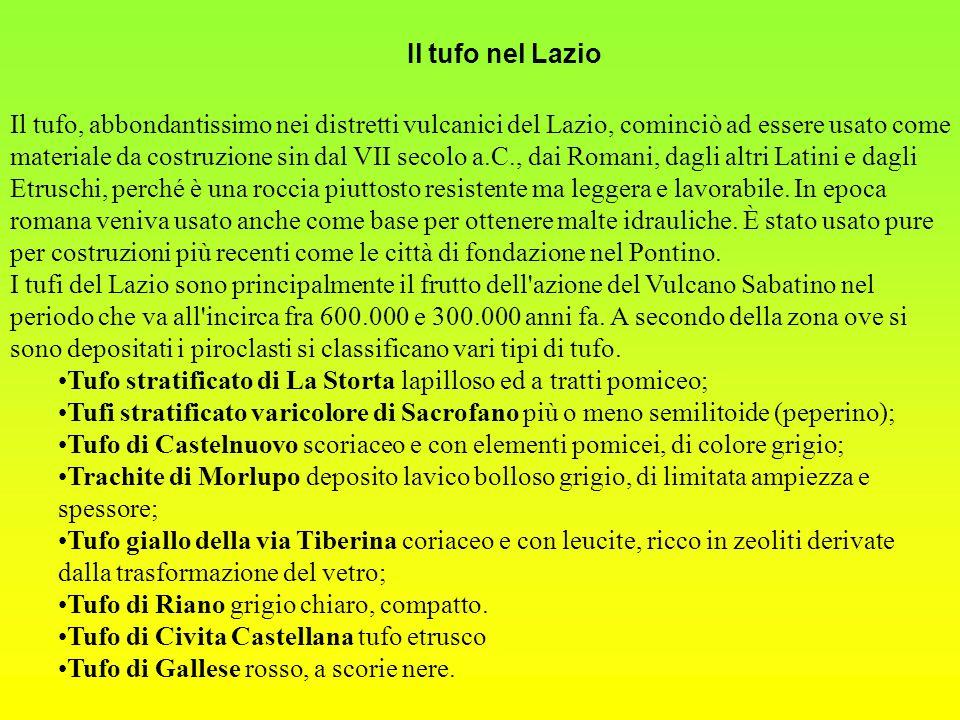 Il tufo nel Lazio