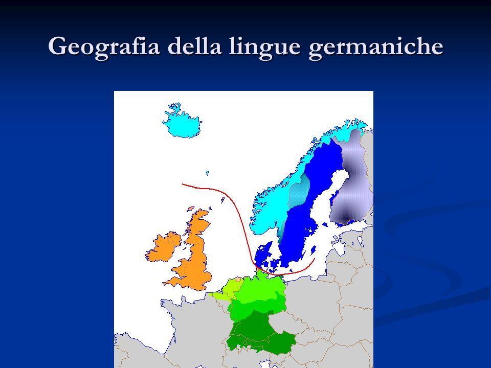 Geografia della lingue germaniche