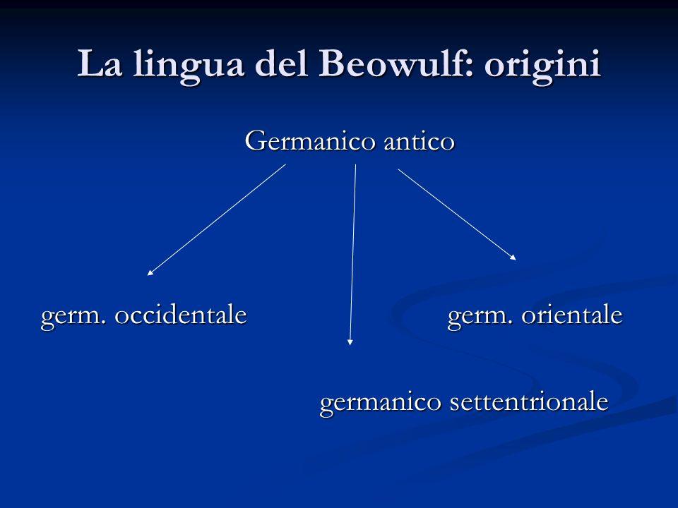 La lingua del Beowulf: origini