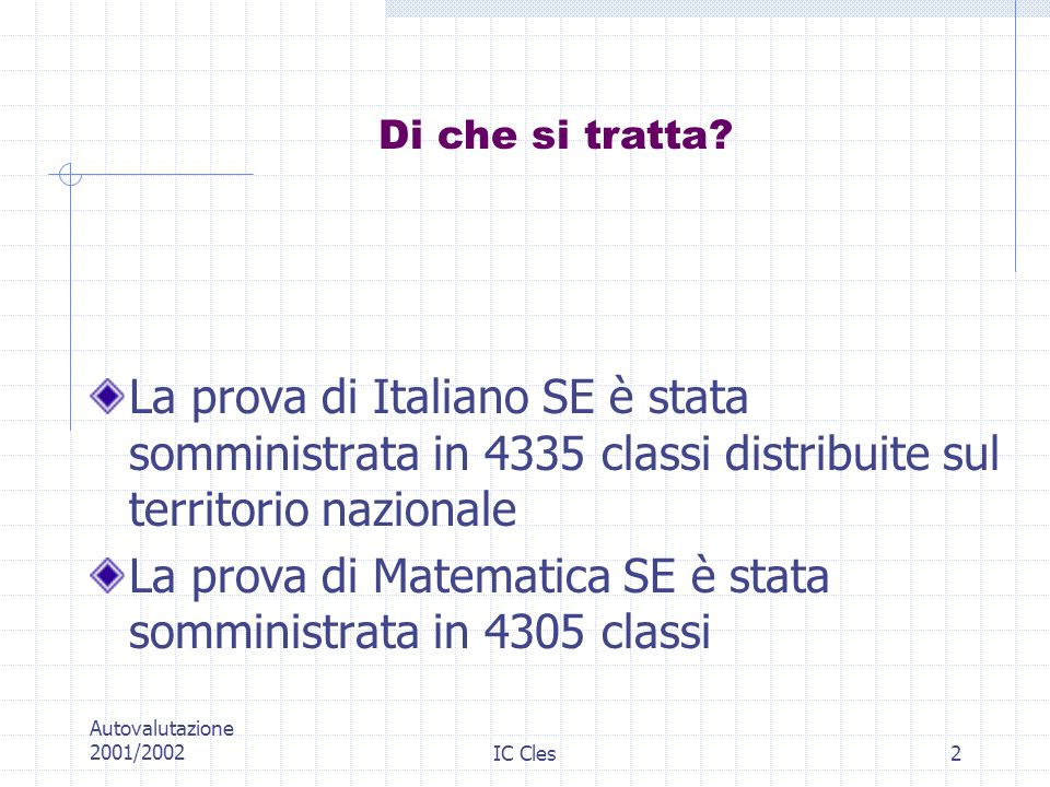 La prova di Matematica SE è stata somministrata in 4305 classi