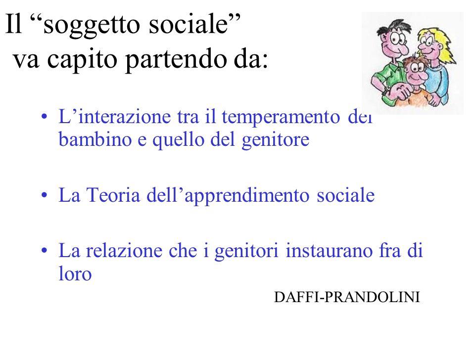 Il soggetto sociale va capito partendo da: