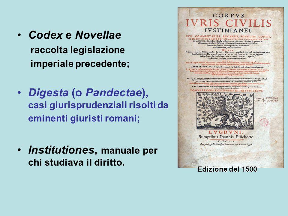 Institutiones, manuale per chi studiava il diritto.