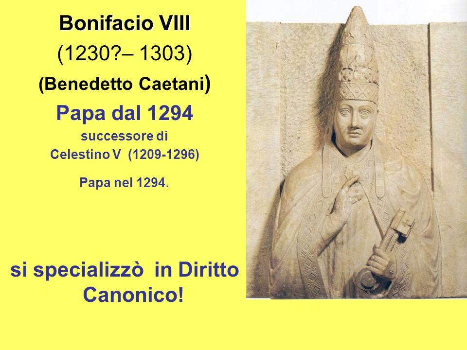 si specializzò in Diritto Canonico!