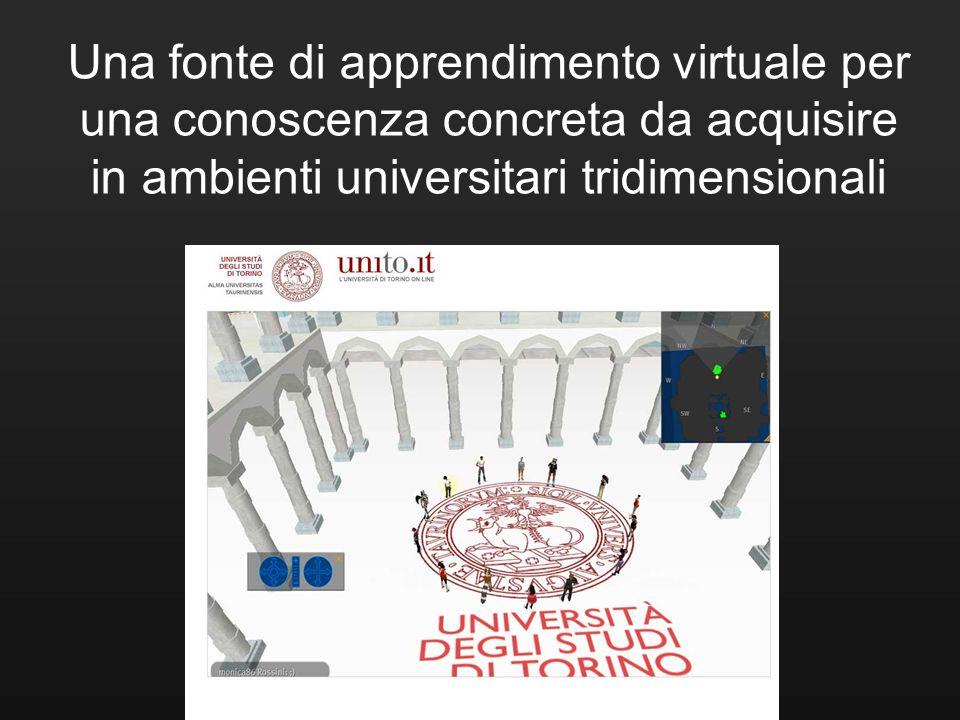 Una fonte di apprendimento virtuale per una conoscenza concreta da acquisire in ambienti universitari tridimensionali