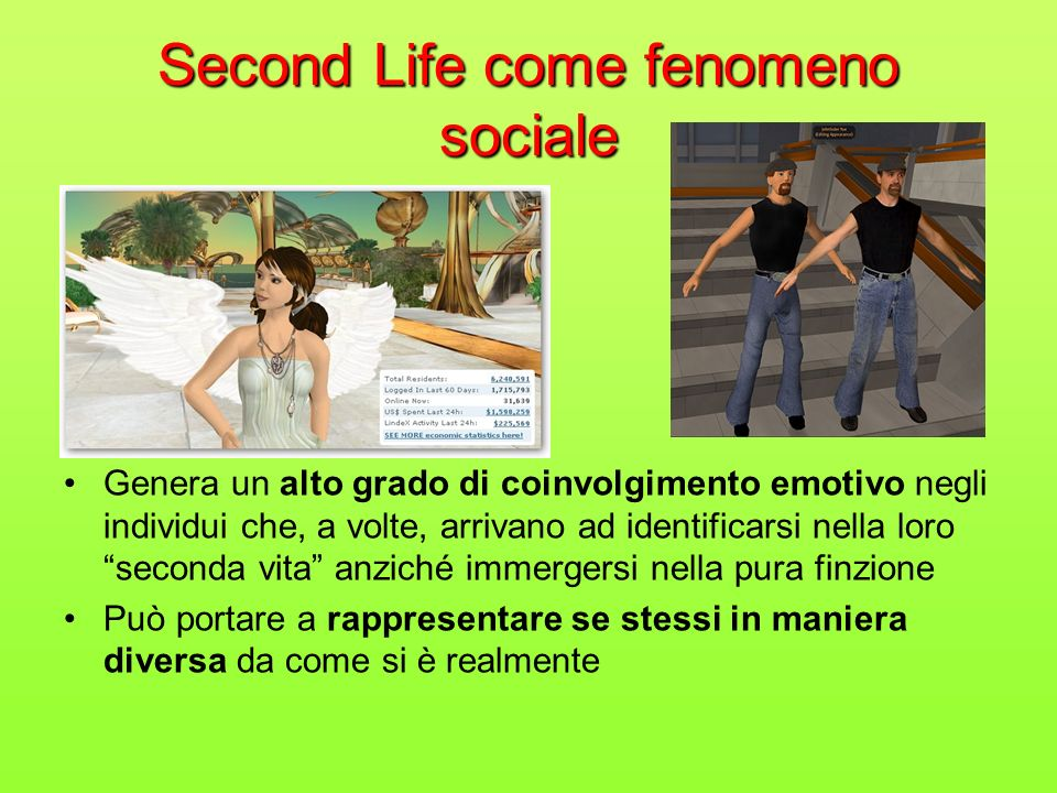 Second Life come fenomeno sociale