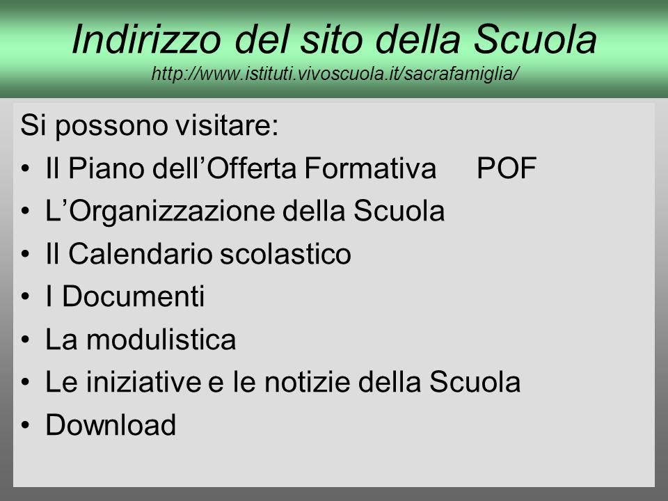 Indirizzo del sito della Scuola http://www. istituti. vivoscuola