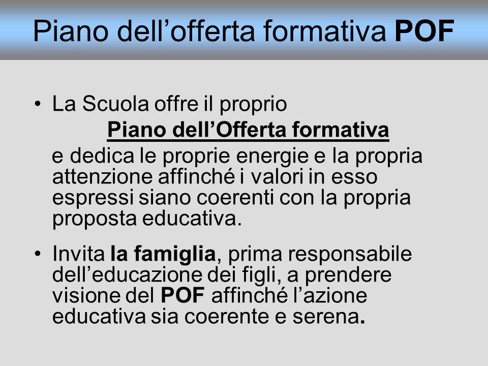 Piano dell'offerta formativa POF