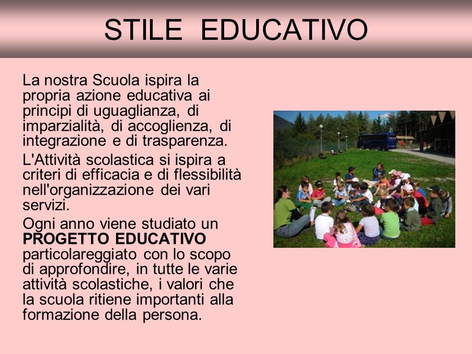 STILE EDUCATIVO