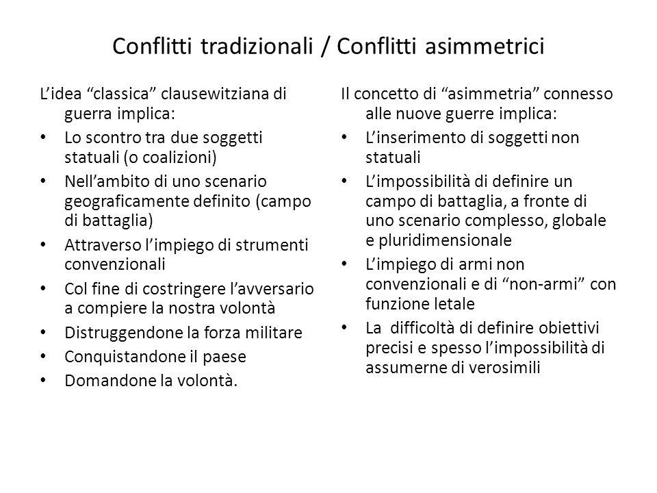 Conflitti tradizionali / Conflitti asimmetrici