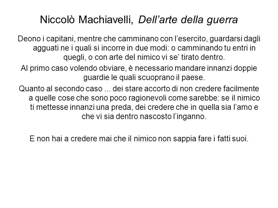Niccolò Machiavelli, Dell'arte della guerra