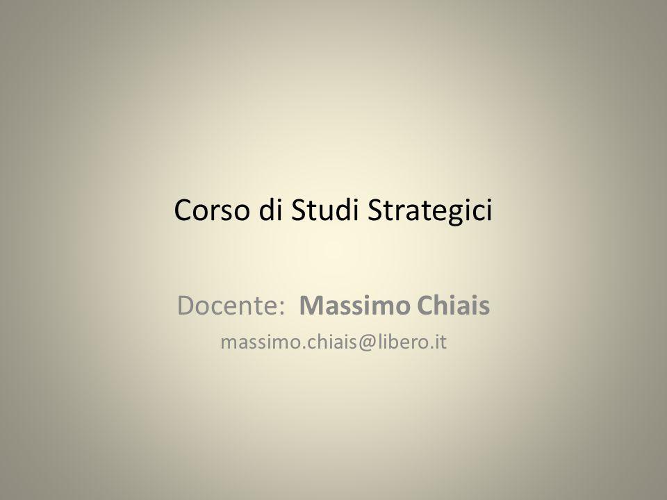 Corso di Studi Strategici