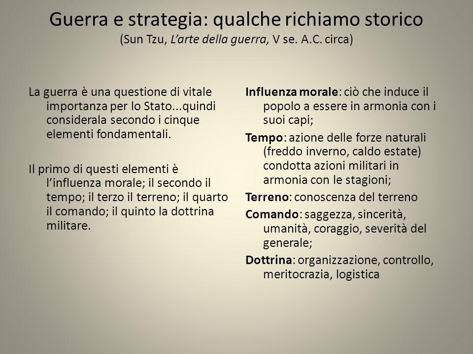 Guerra e strategia: qualche richiamo storico (Sun Tzu, L'arte della guerra, V se. A.C. circa)