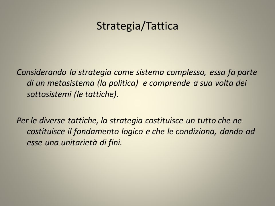 Strategia/Tattica