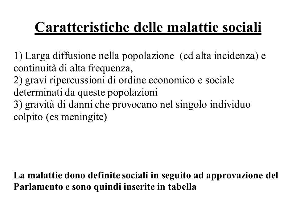 Caratteristiche delle malattie sociali