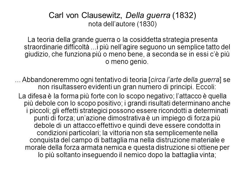 Carl von Clausewitz, Della guerra (1832) nota dell'autore (1830)