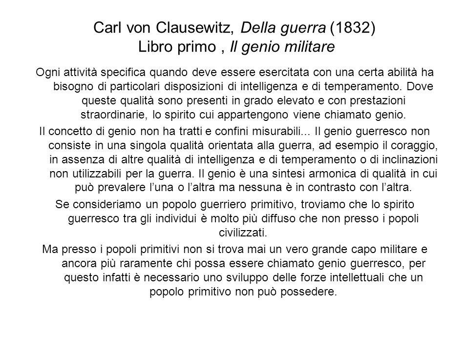 Carl von Clausewitz, Della guerra (1832) Libro primo , Il genio militare