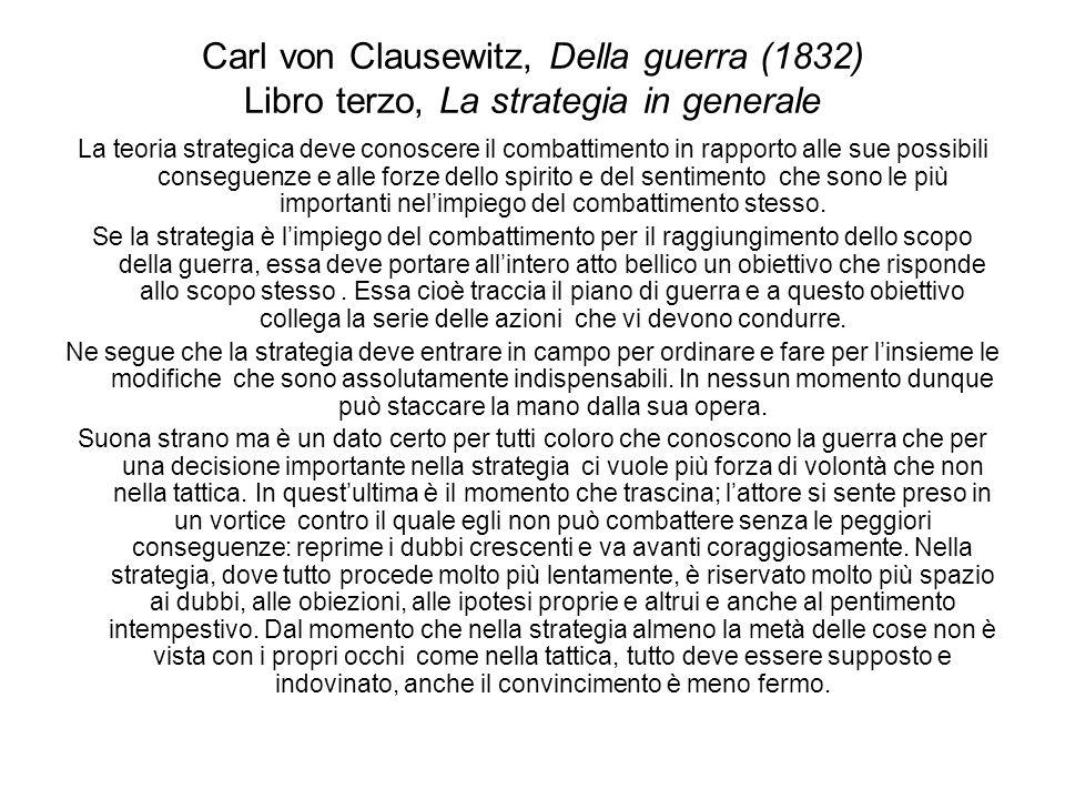 Carl von Clausewitz, Della guerra (1832) Libro terzo, La strategia in generale