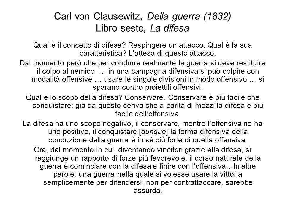 Carl von Clausewitz, Della guerra (1832) Libro sesto, La difesa