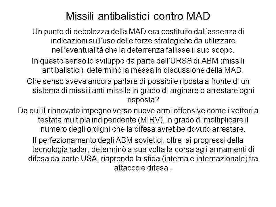 Missili antibalistici contro MAD