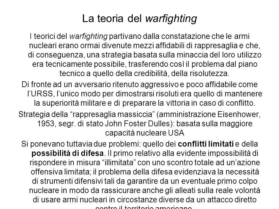 La teoria del warfighting