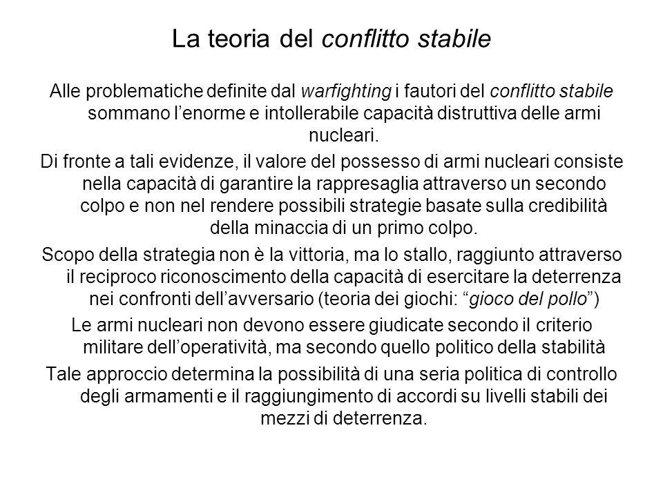 La teoria del conflitto stabile