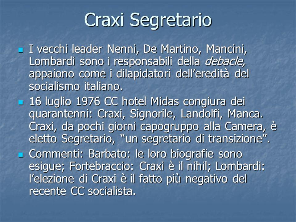 Craxi Segretario