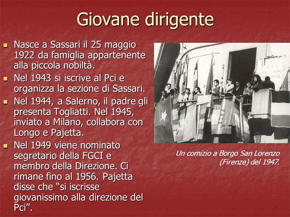 Giovane dirigente Nasce a Sassari il 25 maggio 1922 da famiglia appartenente alla piccola nobiltà.