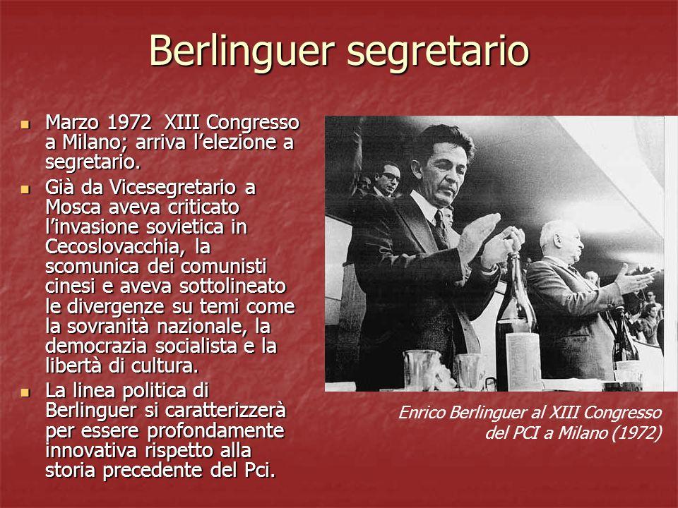 Berlinguer segretario