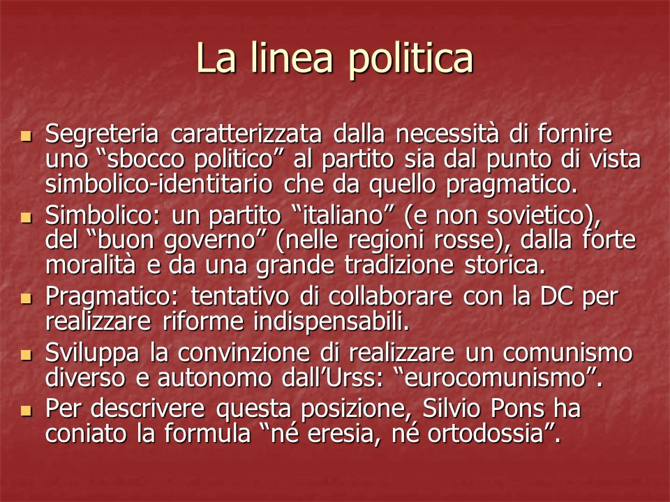 La linea politica