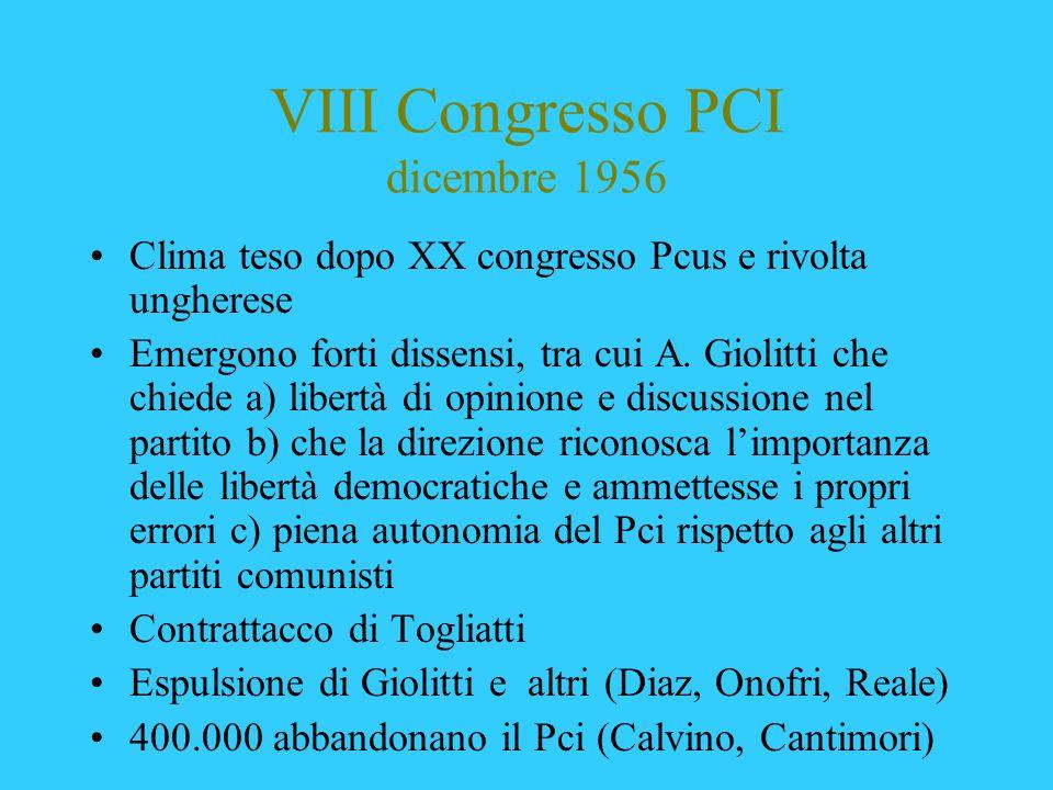 VIII Congresso PCI dicembre 1956