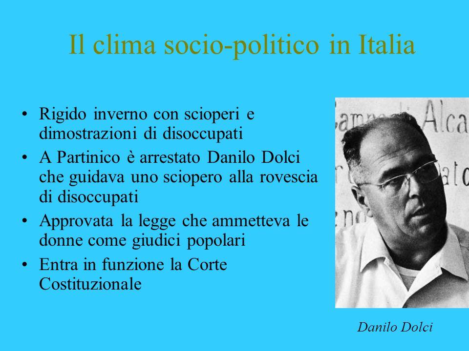 Il clima socio-politico in Italia